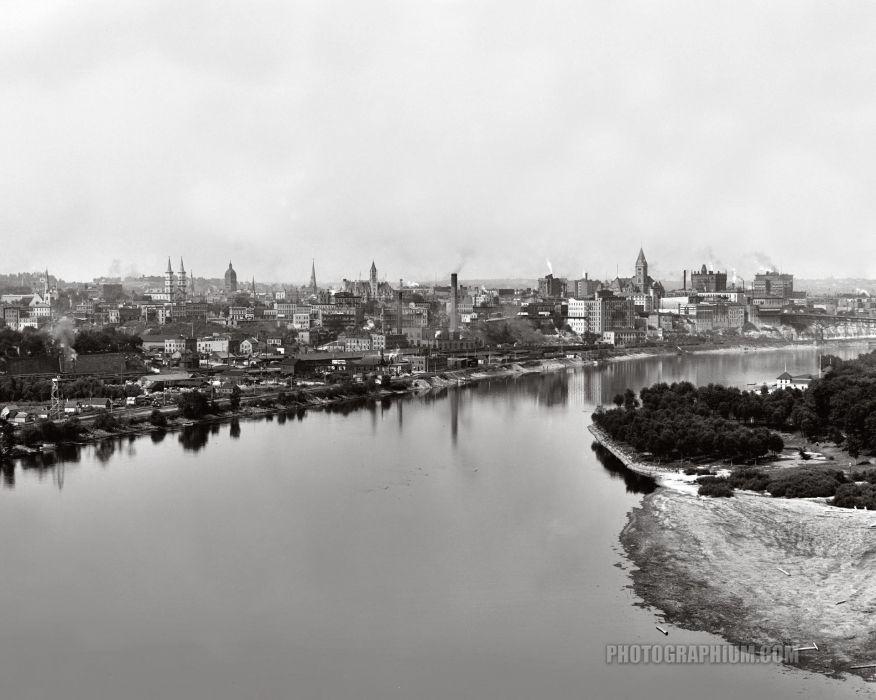 st paul and mississippi river from high bridge saint paul minnesota 1905 wallpaper
