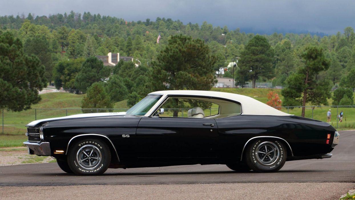 1970 CHEVROLET CHEVELLE (SS) cars black wallpaper