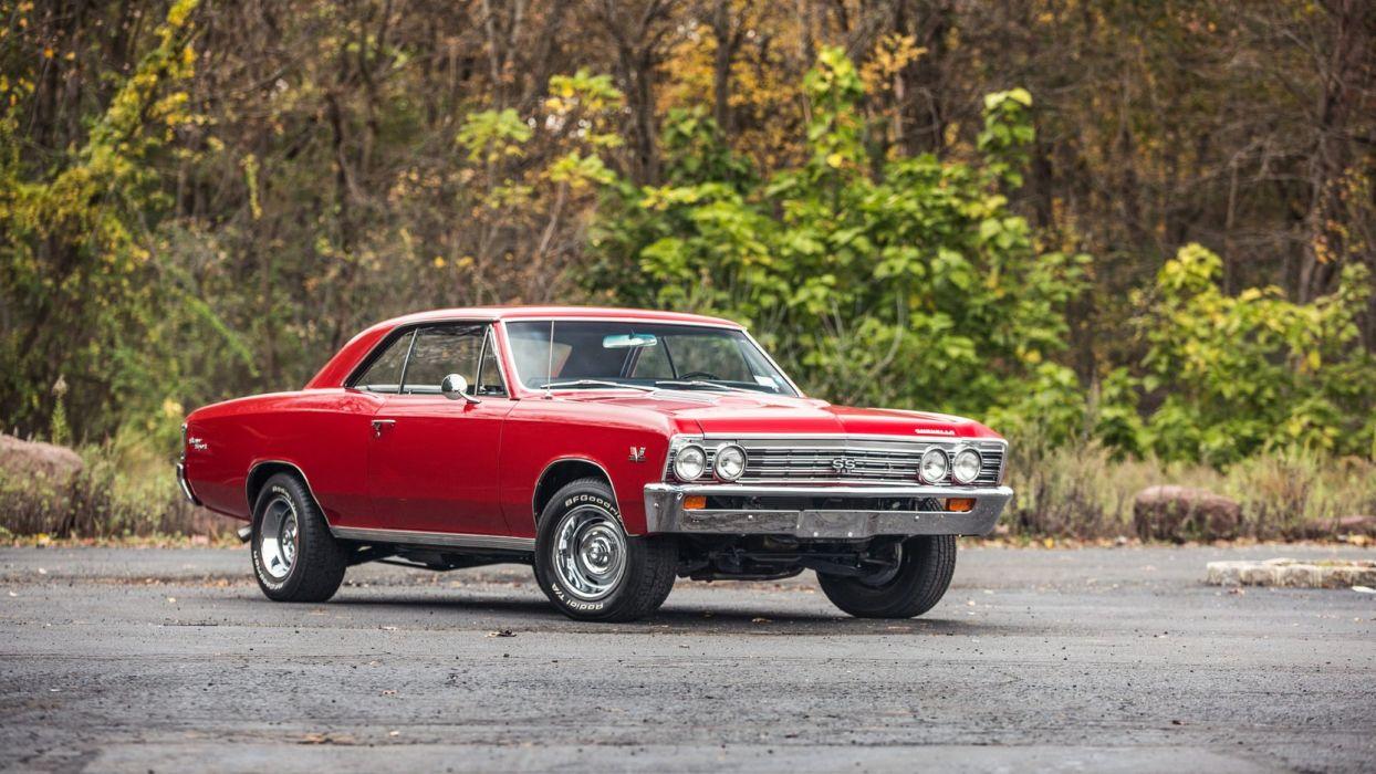 1967 CHEVROLET CHEVELLE (SS) cars red wallpaper