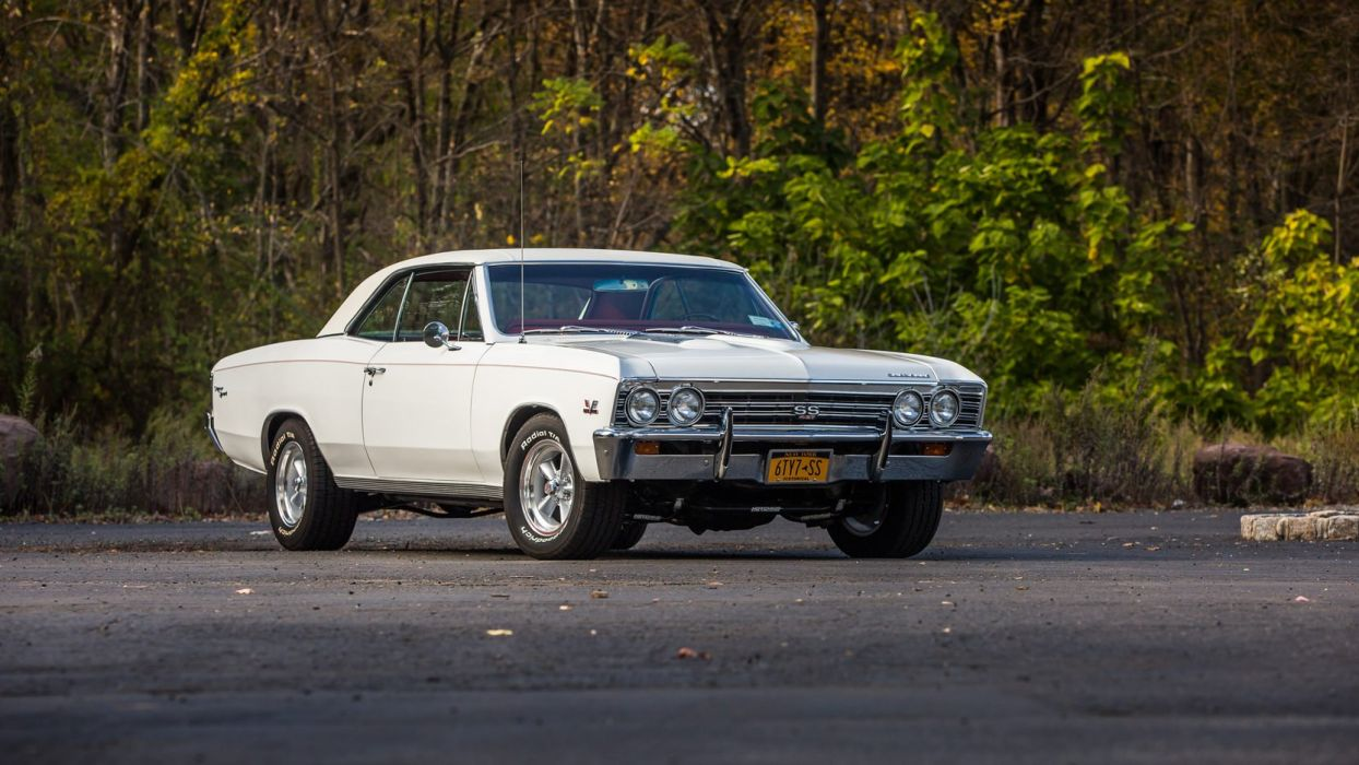 1967 CHEVROLET CHEVELLE (SS) cars white wallpaper