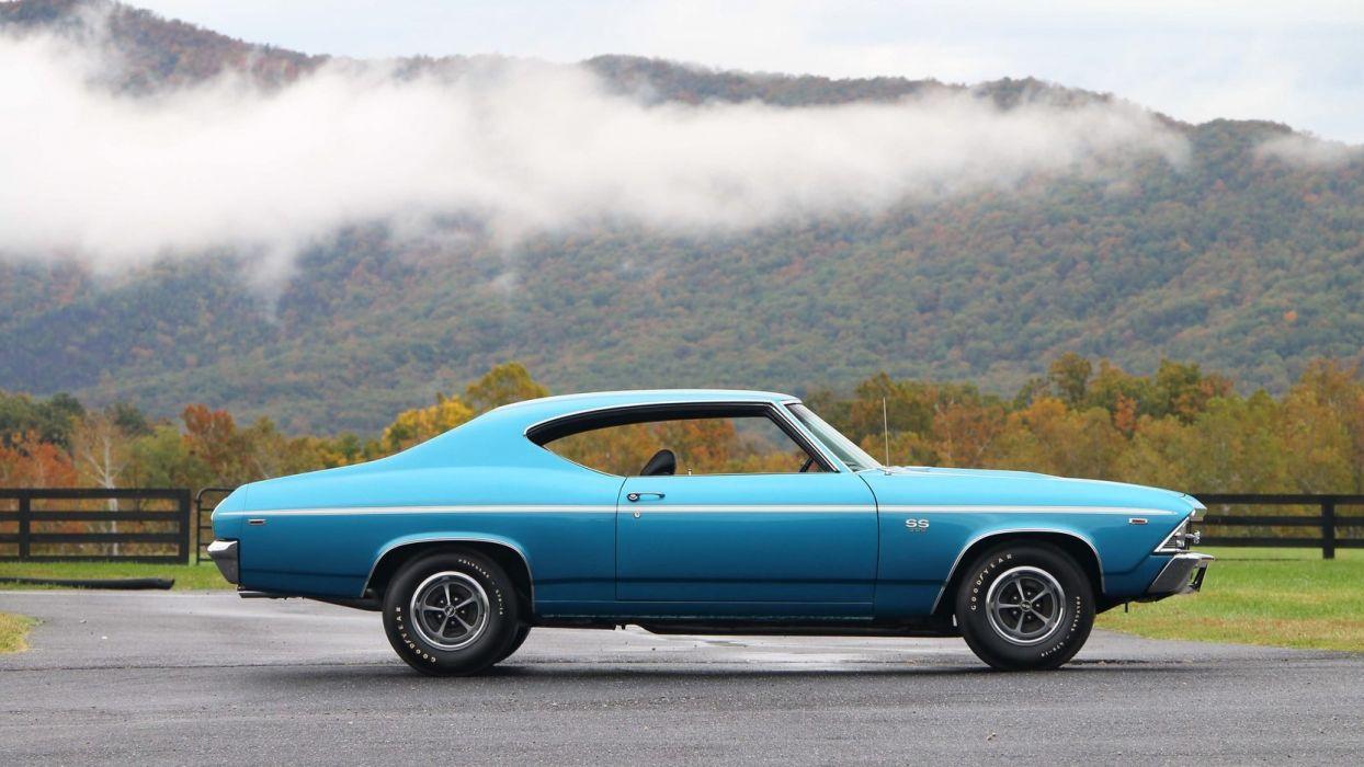 1969 CHEVROLET CHEVELLE (SS) cars blue wallpaper