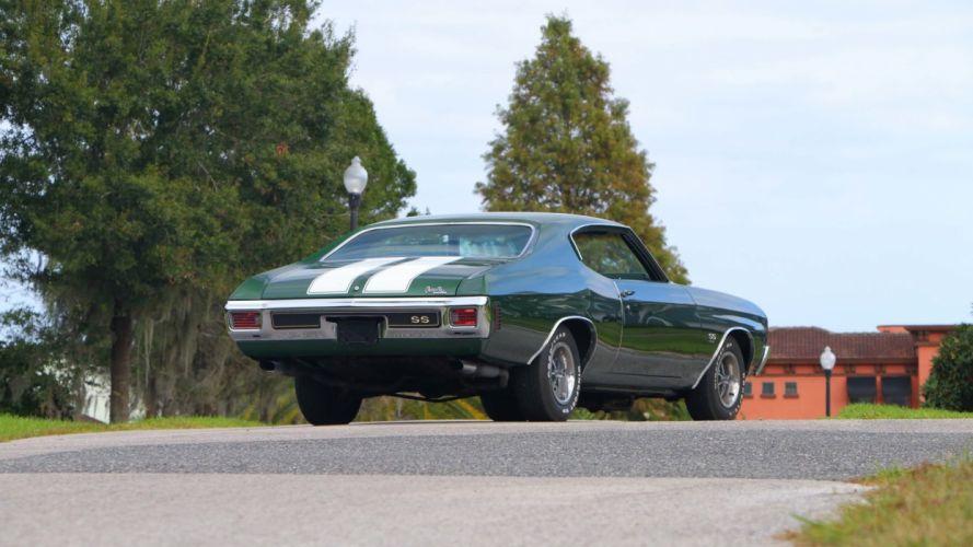 1970 CHEVROLET CHEVELLE (SS) cars green wallpaper