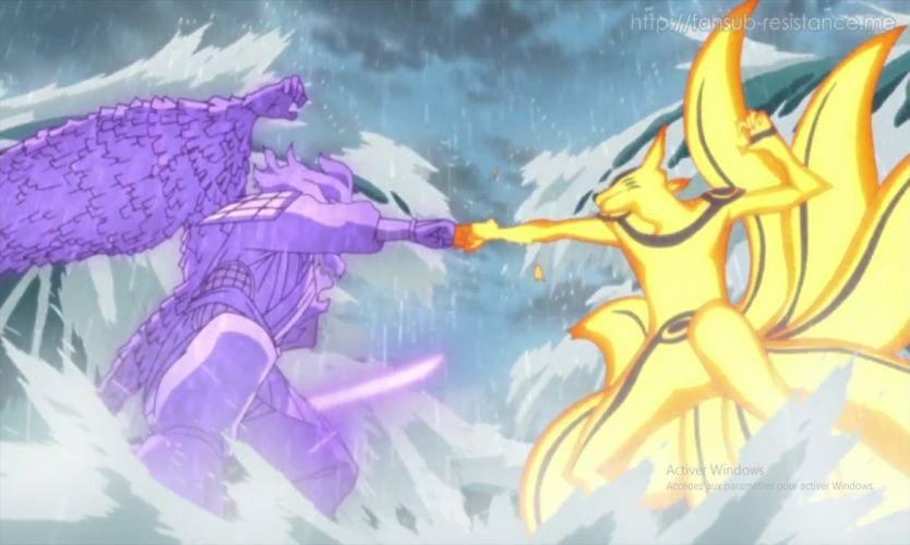 Naruto VS Sasuke Final Fight wallpaper