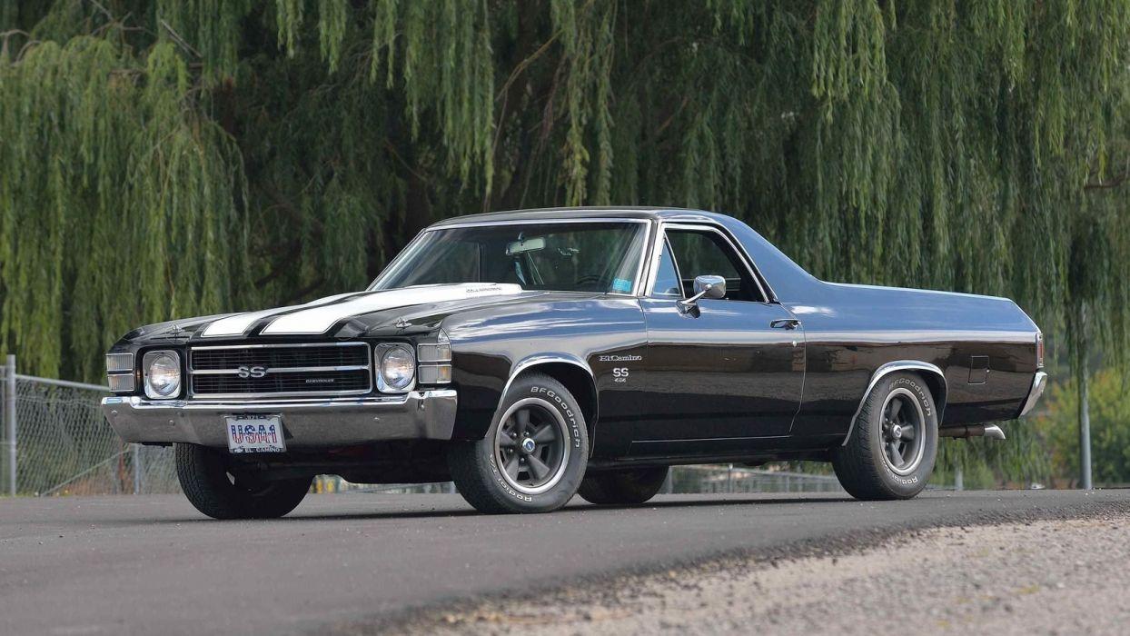 1971 Chevrolet El Camino Pickup Cars Black Ss Wallpaper 1664x936 1033544 Wallpaperup