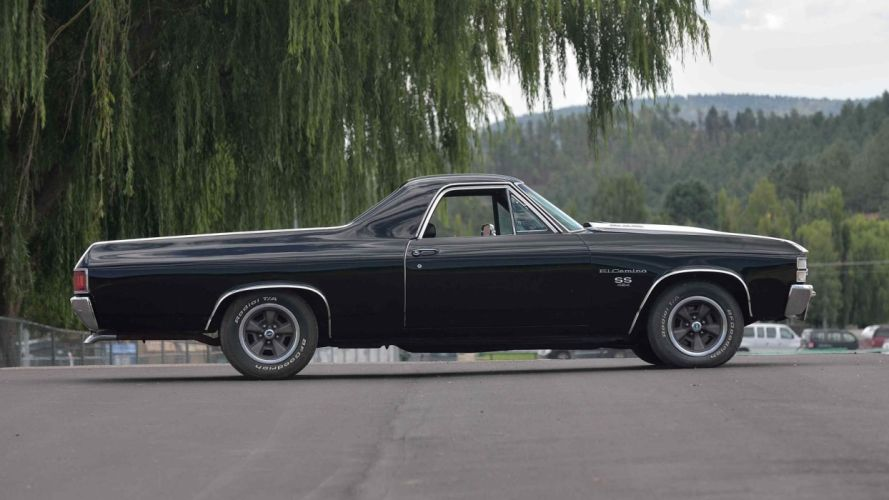 1971 CHEVROLET EL-CAMINO pickup cars black (ss) wallpaper
