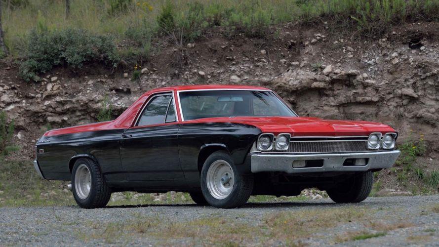 1969 CHEVROLET EL-CAMINO pickup cars black wallpaper