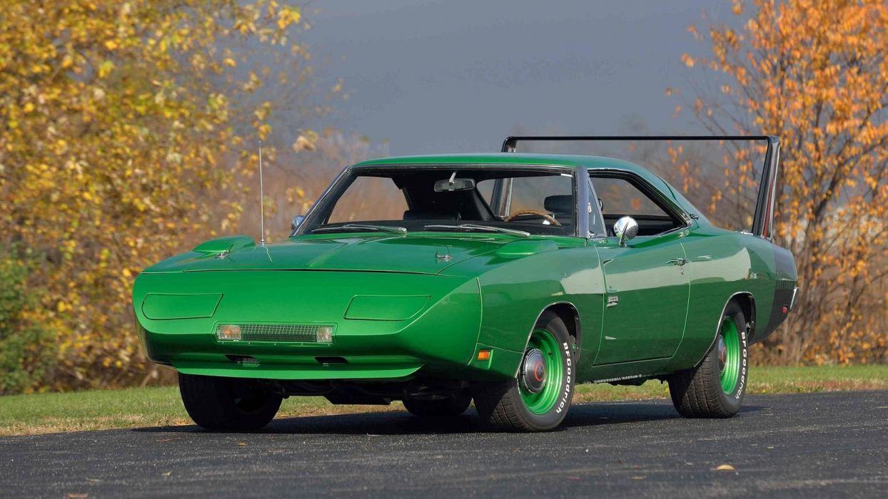 1969 DODGE HEMI DAYTONA cars green wallpaper