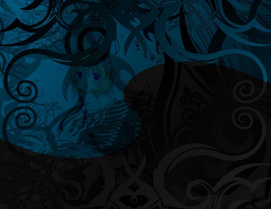 edubuntu linux gnu ubuntu debian tribal anime cute girl loli ocult kid abstrate wave wallpaper