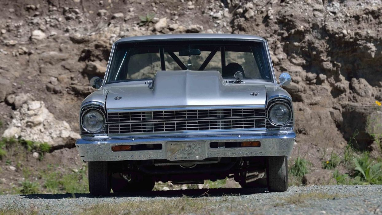 1967 CHEVROLET CHEVY (II) PRO STREET silver cars wallpaper