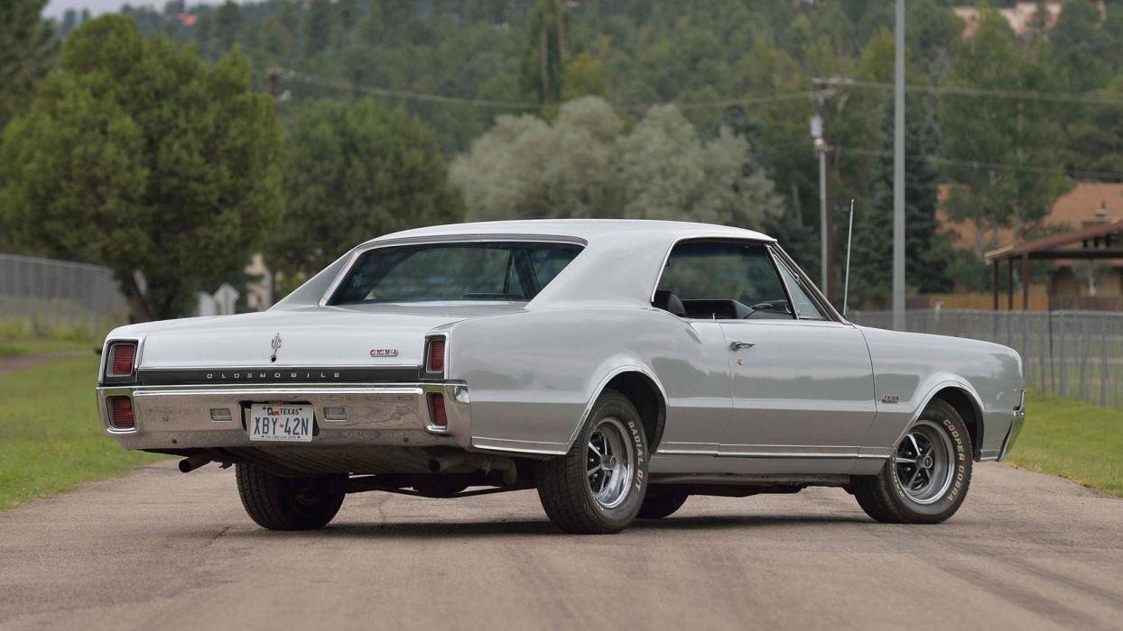 1967 OLDSMOBILE 442 HARDTOP cars silver wallpaper