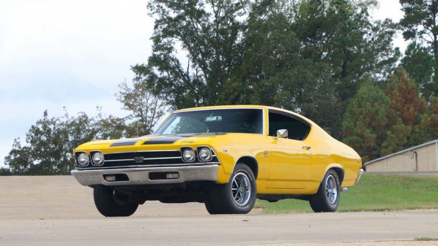 1969 CHEVROLET CHEVELLE (SS) cars yellow wallpaper