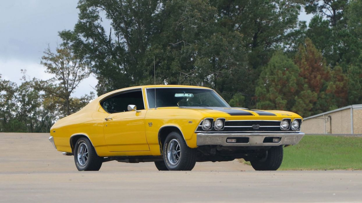 1969 CHEVROLET CHEVELLE (SS) cars yellow wallpaper