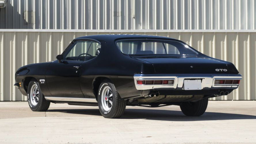 1971 PONTIAC GTO cars black wallpaper