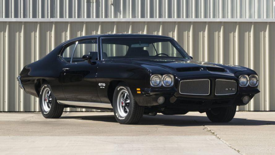 1971 PONTIAC GTO cars black wallpaper