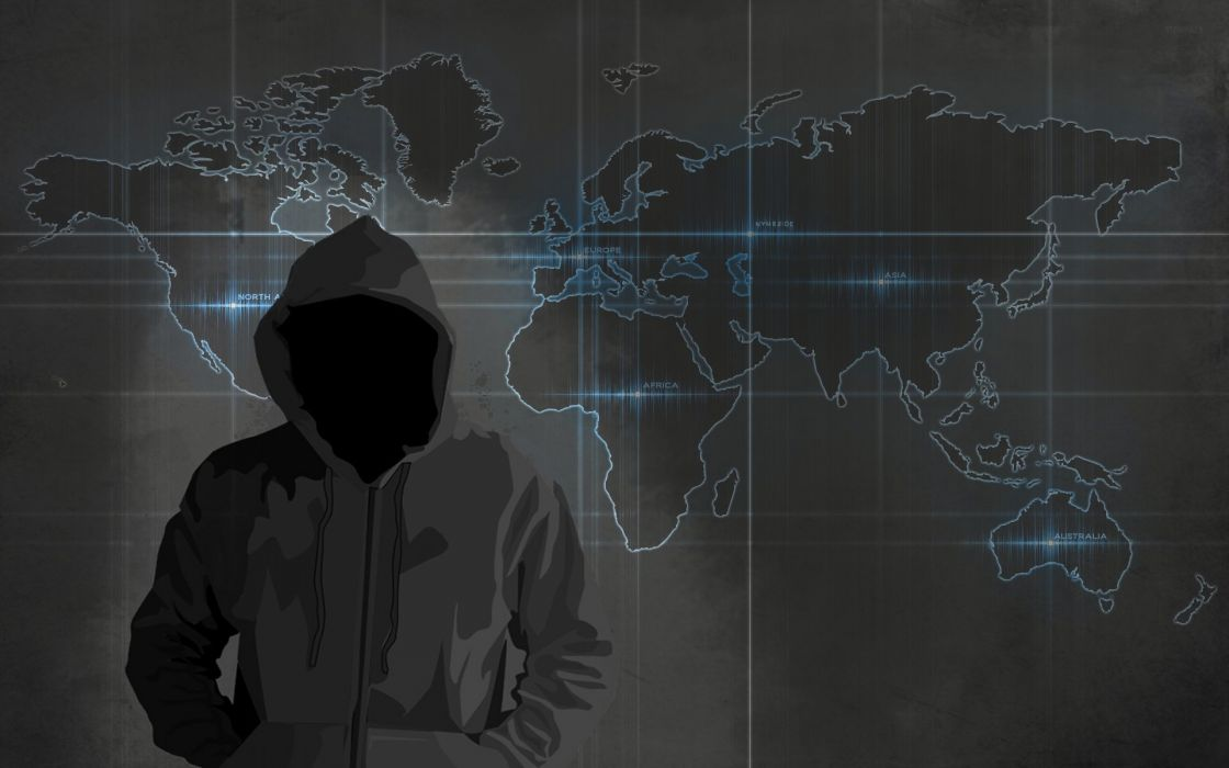 hacking pentest cap hack penetration test anonimity ocult world map technology wallpaper