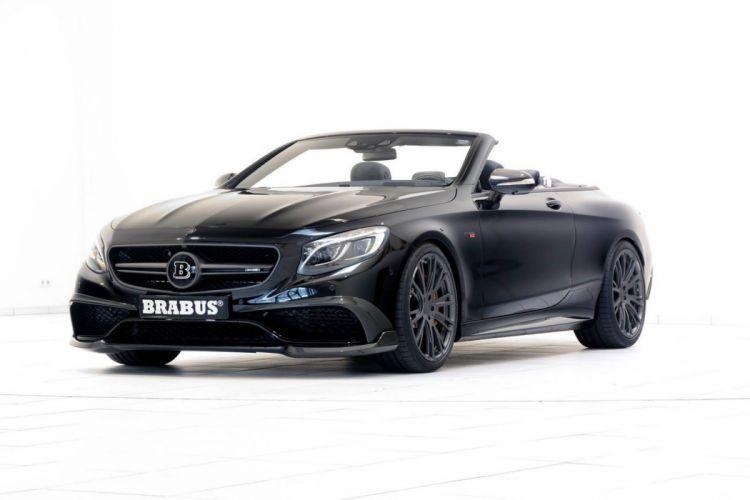 Mercedes S63 AMG Brabus 850 cars convertible modified black wallpaper