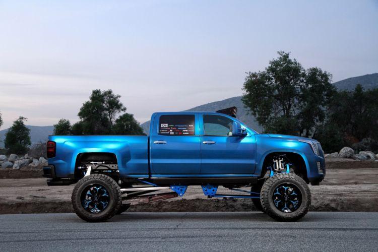 Bulletproof Suspensions Chevrolet Silverado 2500-HD Cadi-Max truck blue modified pickup wallpaper