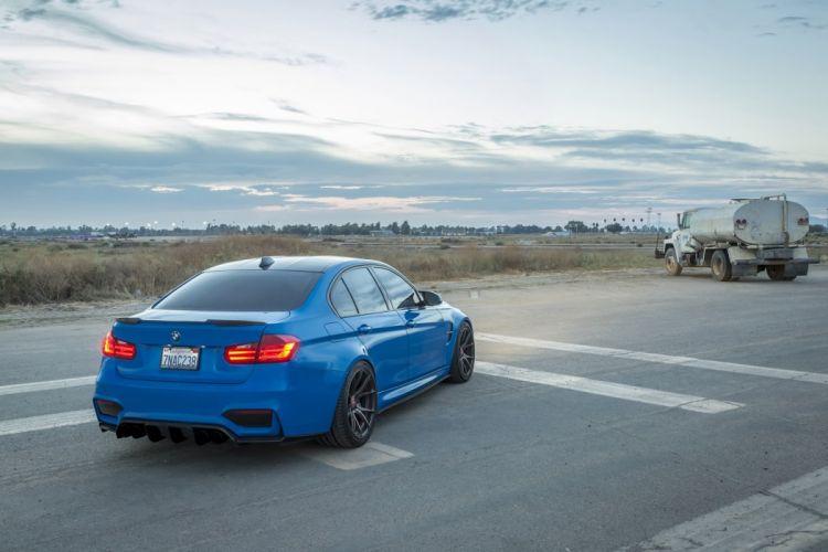 SSR Performance BMW (M3) (F80) cars sedan blue modified 2014 wallpaper