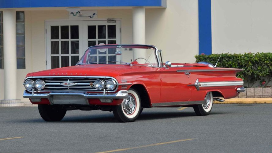 1960 CHEVROLET IMPALA CONVERTIBLE cars classic red wallpaper
