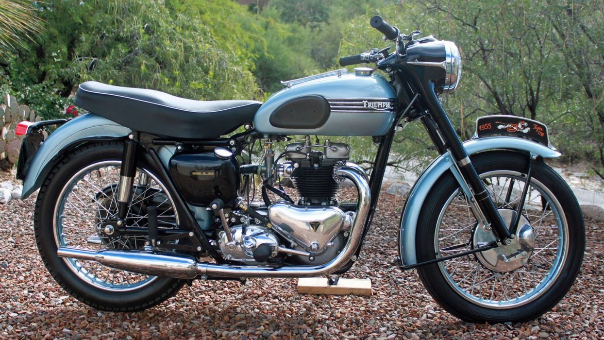 1955 TRIUMPH T110 TIGER motorcycles wallpaper