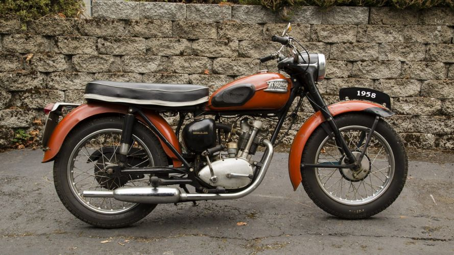 1958 TRIUMPH CUB ROAD BIKE motorcycles wallpaper