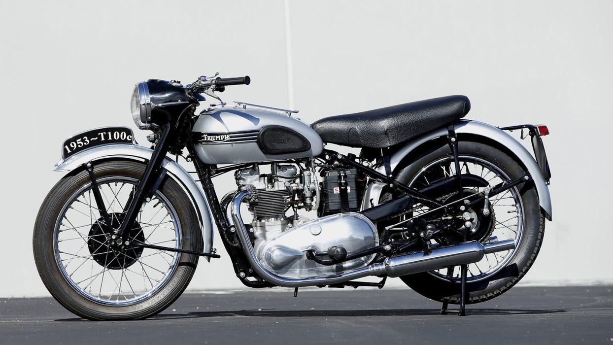 1953 TRIUMPH T100C motorcycles wallpaper