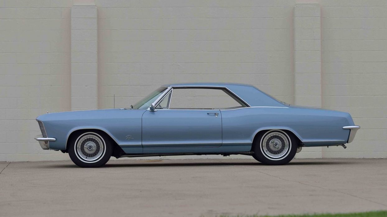 1965 BUICK RIVIERA classic cars blue wallpaper
