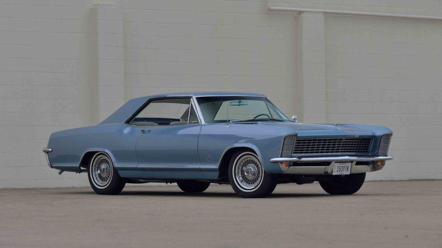 1965 BUICK RIVIERA classic cars blue wallpaper