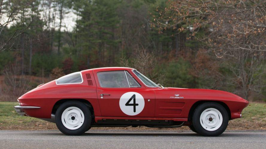 1964 CHEVROLET CORVETTE (c2) TANKER cars red SCCA wallpaper