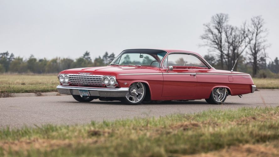 1962 CHEVROLET BEL AIR RESTO MOD cars red wallpaper