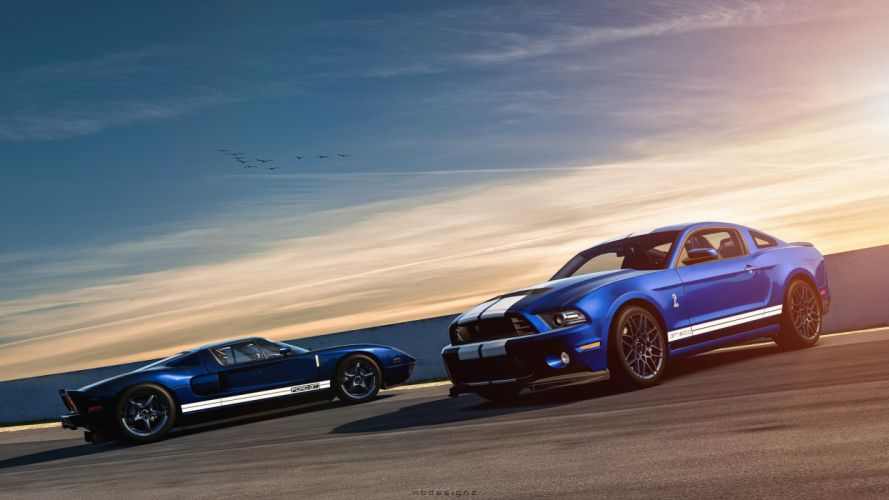 Ford Mustang and Ford GT wallpaper