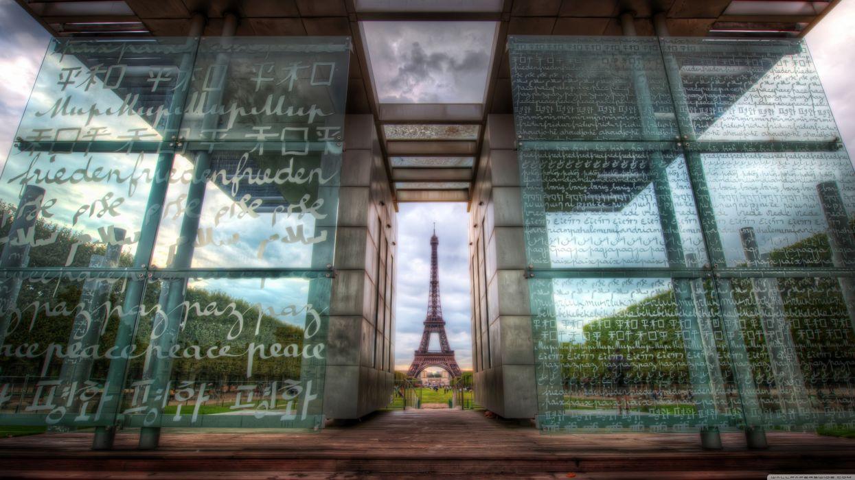 the eiffel tower through art-wallpaper-3840x2160 wallpaper