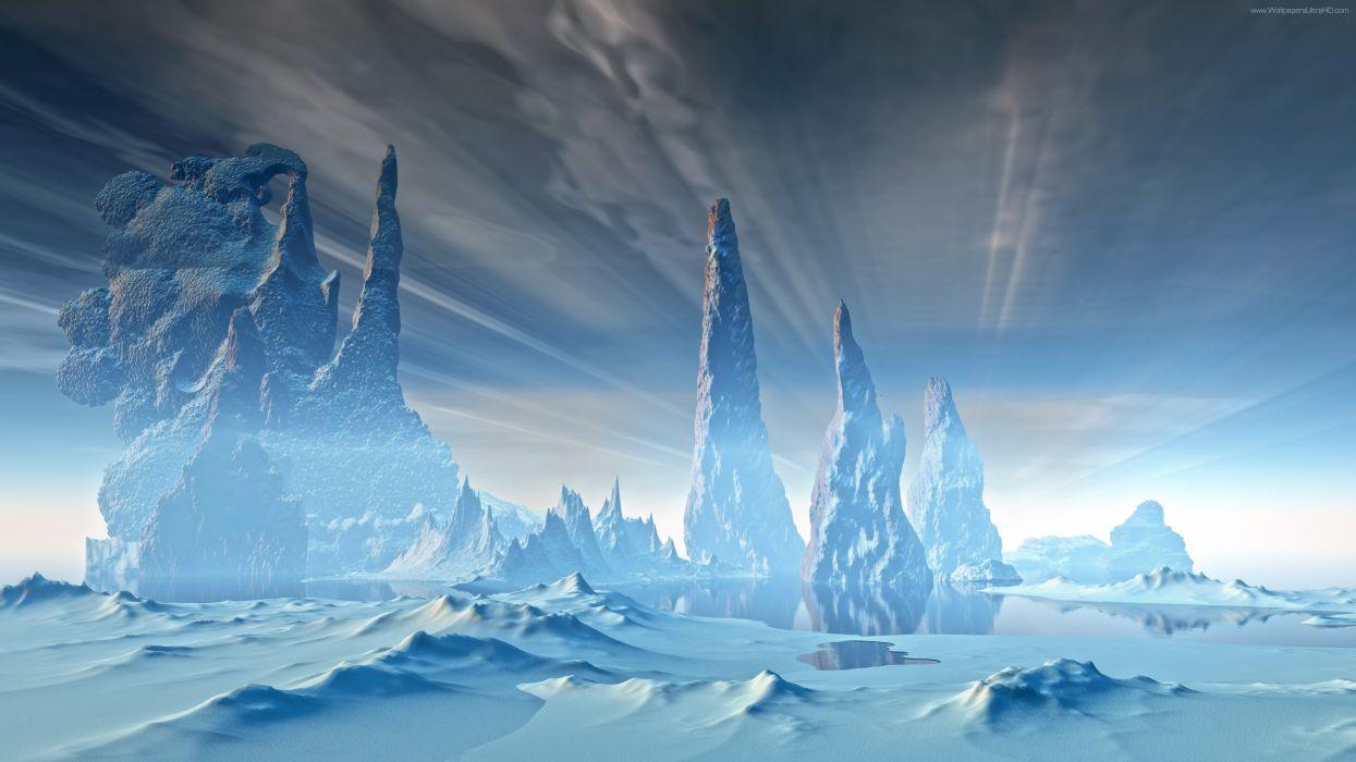 Winter scifi Television 8K wallpaper