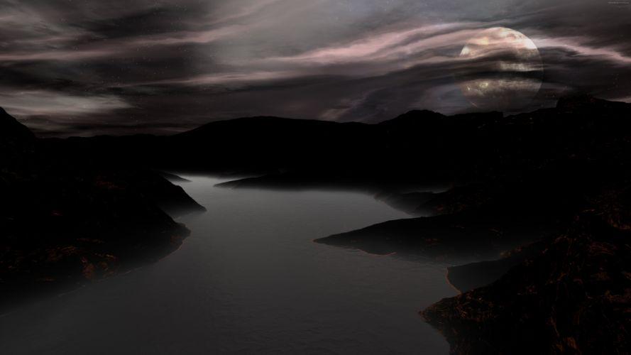 darkness 8K wallpaper