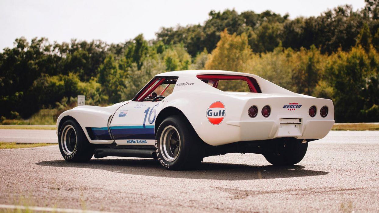 1968 CHEVROLET CORVETTE (c3) RACE CAR IMSA wallpaper