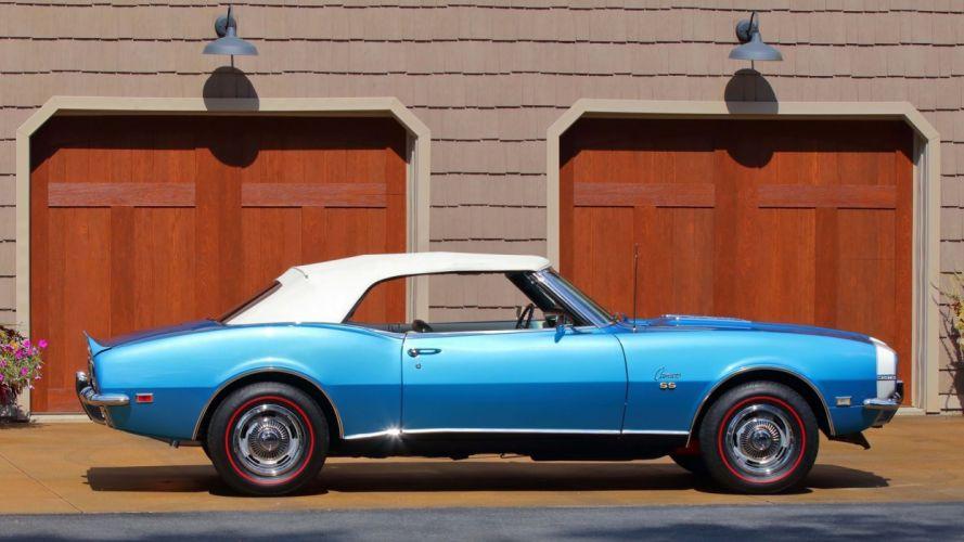 SS) CONVERTIBLE cars blue 396 wallpaper