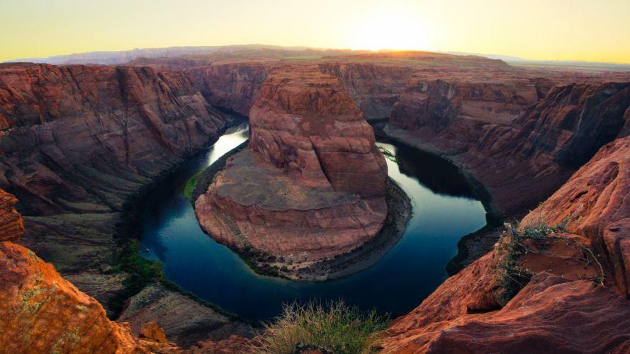 Horseshoe Bend Grand Canyon Colorado River Arizona 4K Desktop Wallpaper wallpaper