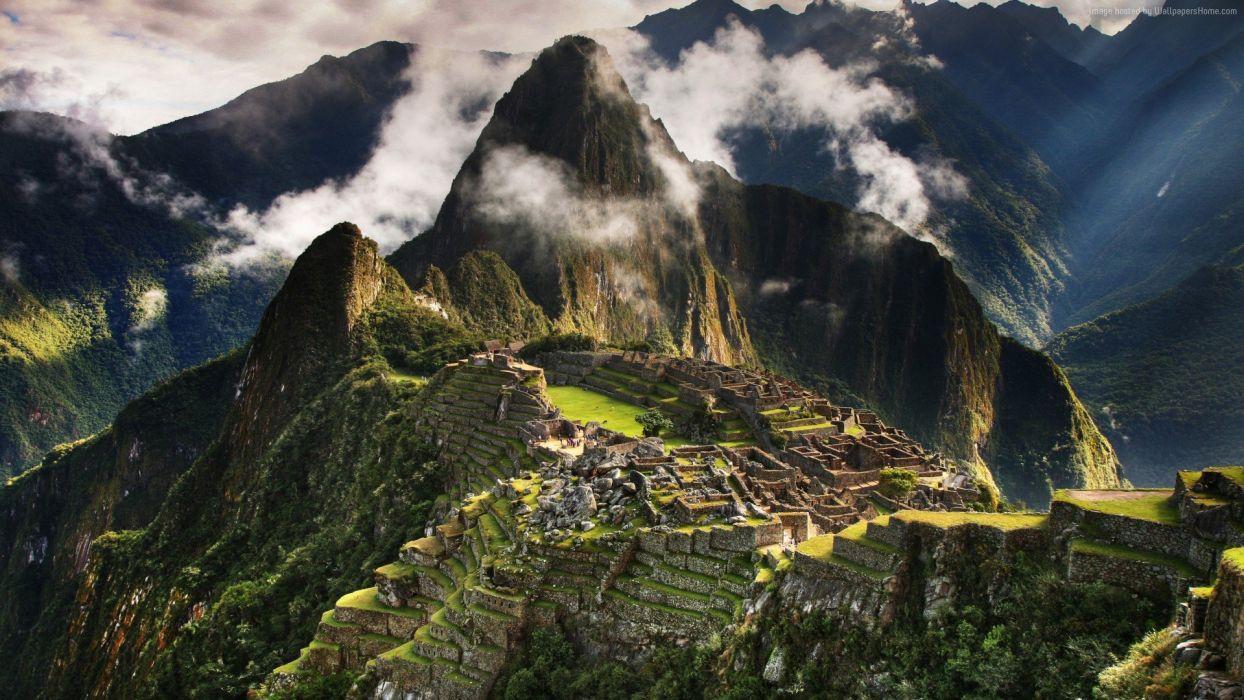 machu-picchu-1920x1080-peru-mountains-clouds-hills-5361 wallpaper