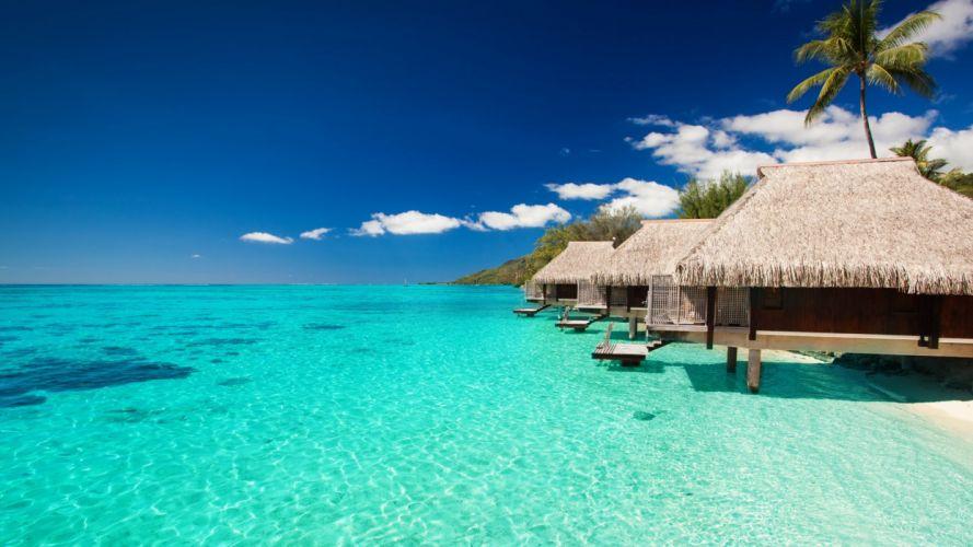 maldives tropical bungalows sky 90627 1920x1080 wallpaper
