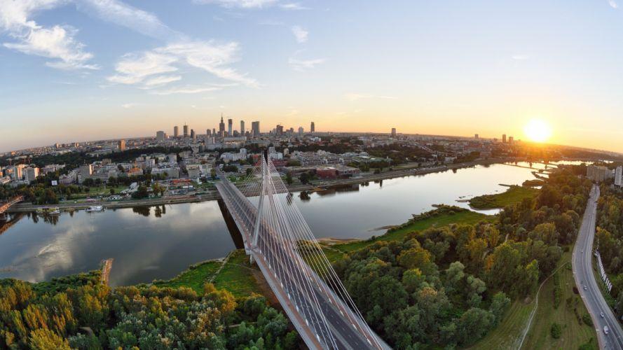 Siekierkowski Bridge Warsaw Poland Desktop Wallpaper wallpaper