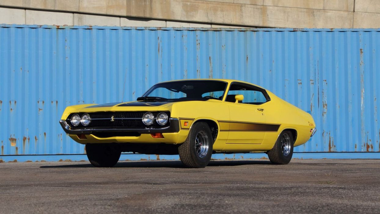 1971 FORD TORINO COBRA FASTBACK 429 cars yellow wallpaper