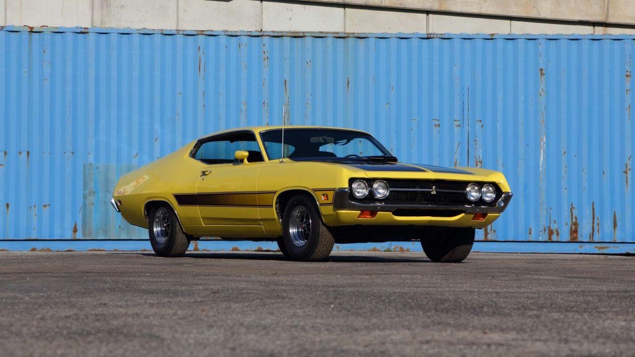 1971 FORD TORINO COBRA FASTBACK 429 cars yellow wallpaper