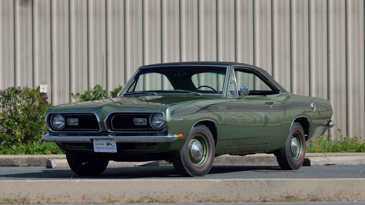 1969 PLYMOUTH BARRACUDA FORMULA-S cars coupe 383 green wallpaper