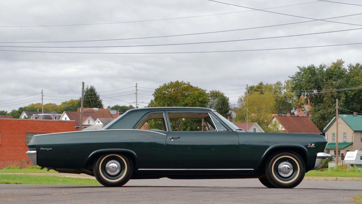 1965 CHEVROLET BISCAYNE cars green wallpaper