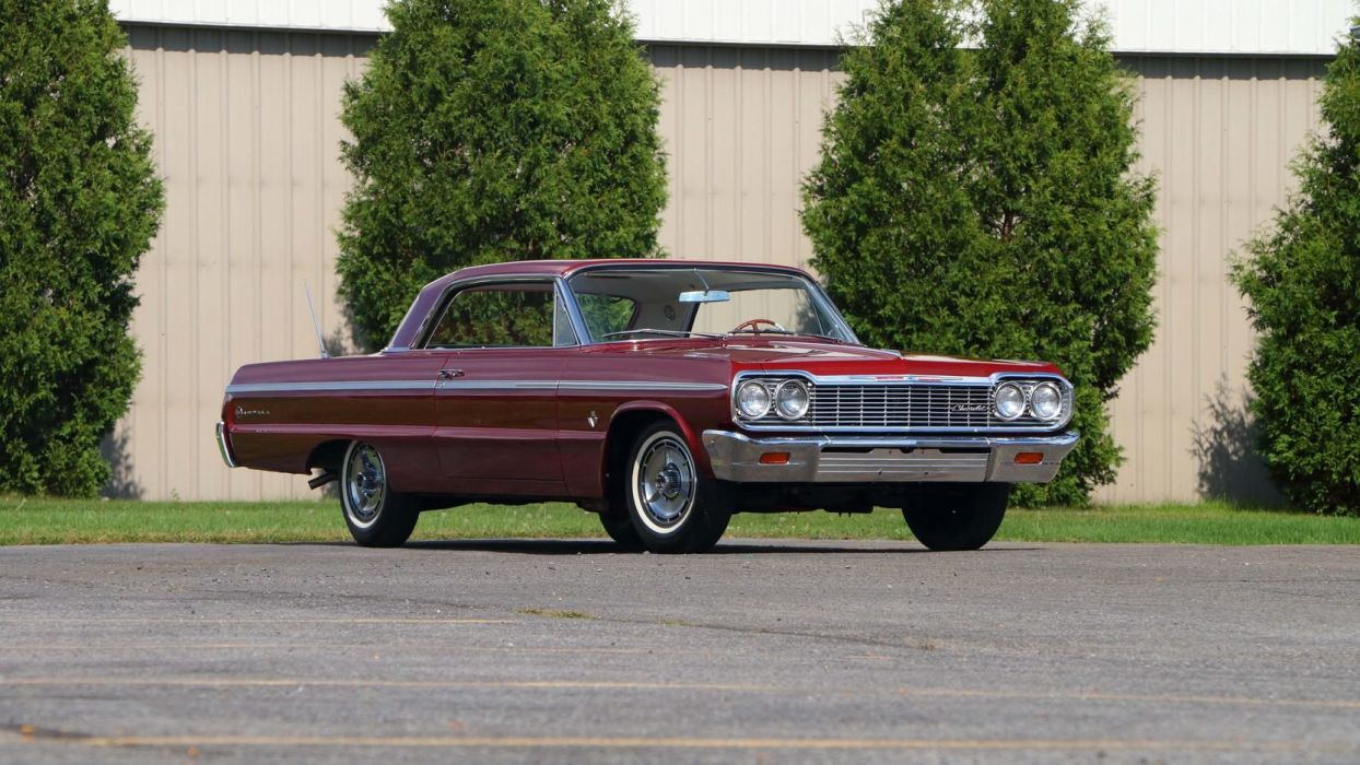 1964 CHEVROLET IMPALA (SS) cars red  wallpaper