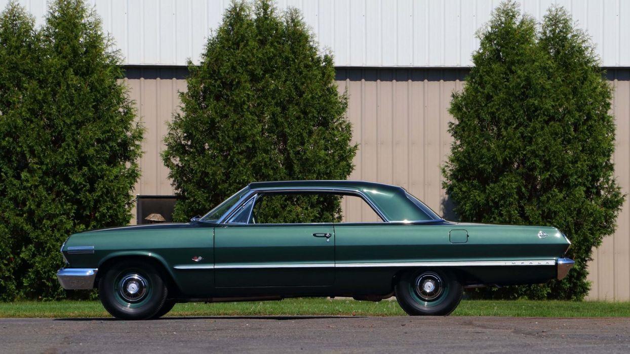 1963 CHEVROLET IMPALA Z11 cars green 427 wallpaper