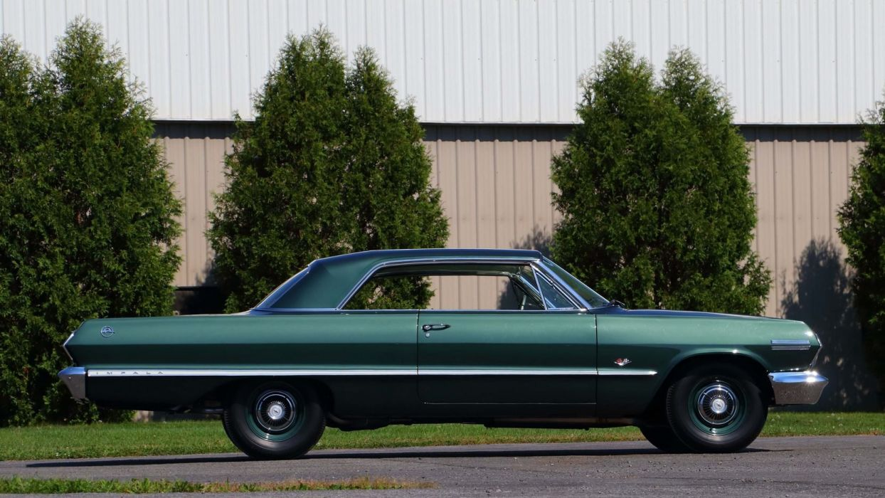 1963 CHEVROLET IMPALA Z11 cars green 427 wallpaper