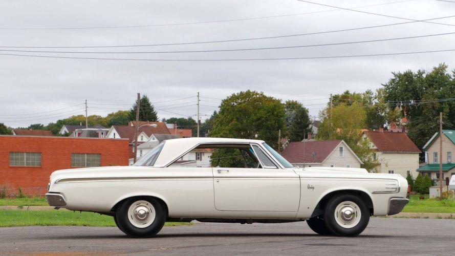 1964 DODGE 440 LIGHTWEIGHT cars white 426 wallpaper