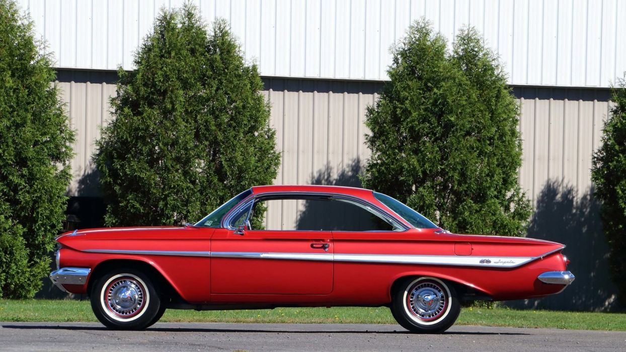 1961 CHEVROLET IMPALA (SS) cars red wallpaper