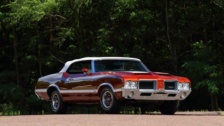 1971 OLDSMOBILE 442 W-30 CONVERTIBLE cars Copper wallpaper